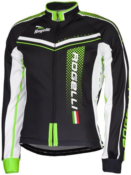 Cyklistický dres Rogelli GARA MOSTRO s dlhým rukávom, zelený