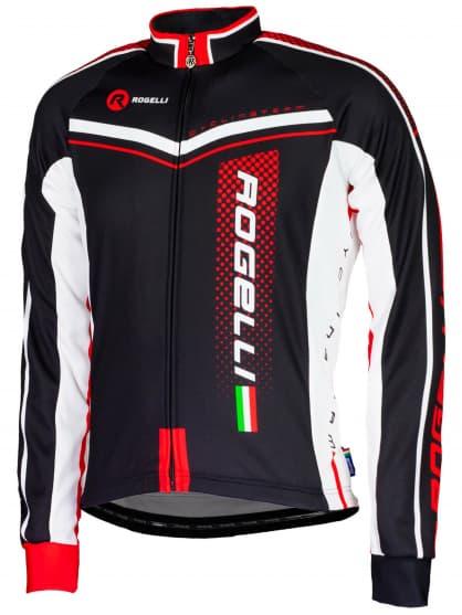 Cyklistický dres Rogelli GARA MOSTRO s dlhým rukávom, červený