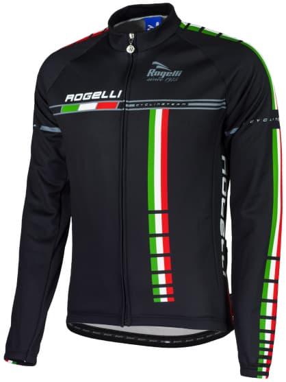 Cyklistický dres Rogelli TEAM s dlhým rukávom, čierno-modrý