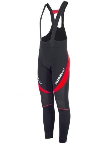 Zateplené cyklonohavice so softshellovými kolenami Rogelli TRAVO 2.0 s gélovou cyklovýstelkou, čierno-červené