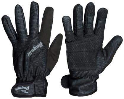 Tenké zimné membránové rukavice s polstrovaním dlane Rogelli ALBERTA 2.0, čierne