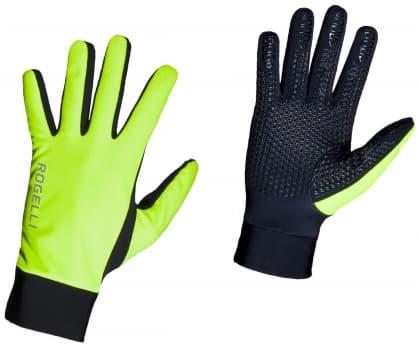 Tenké zimné membránové rukavice Rogelli LAVAL, reflexné žlté