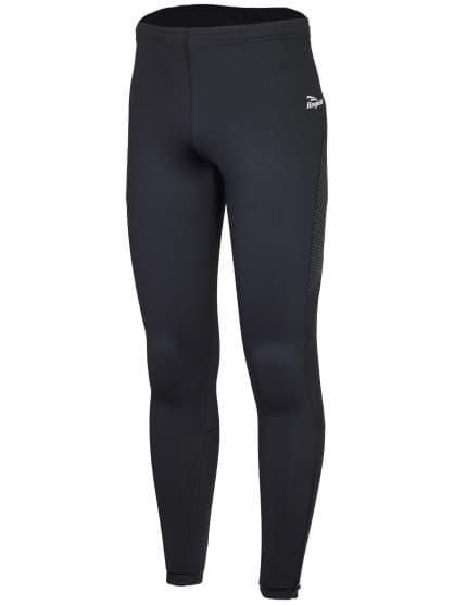 Bežecké zateplené nohavice s výraznou reflexnou potlačou Rogelli BAXTER, čierne