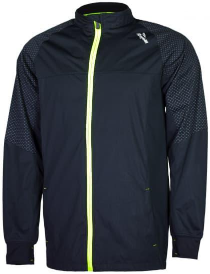 Ultraľahká softshellová bunda s výraznou reflexnou potlačou Rogelli STANTON, čierno-reflexná žltá