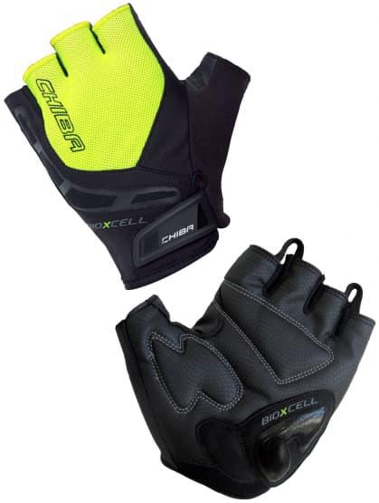 Cyklo rukavice Chiba BIOXCELL, reflexné žlté