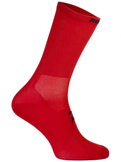 Antibakteriálne jednofarebné ponožky s miernou kompresiou Rogelli Q-SKIN, červené