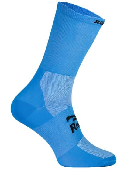 Antibakteriálne jednofarebné ponožky s miernou kompresiou Rogelli Q-SKIN, svetlo modré