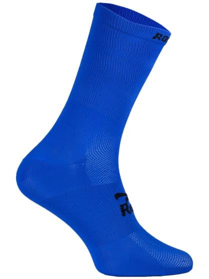 Antibakteriálne jednofarebné ponožky s miernou kompresiou Rogelli Q-SKIN, modré
