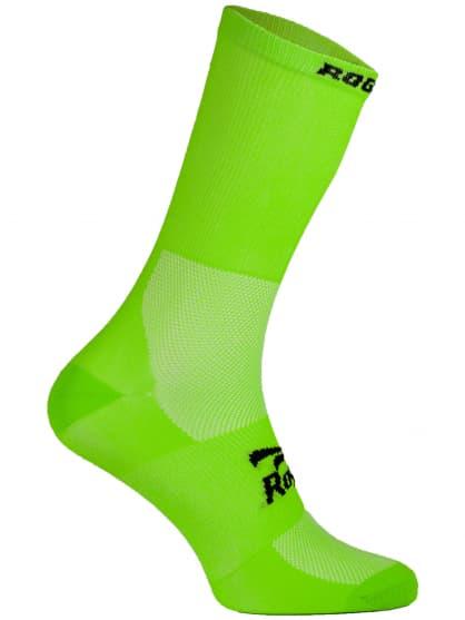 Antibakteriálne jednofarebné ponožky s miernou kompresiou Rogelli Q-SKIN, zelené