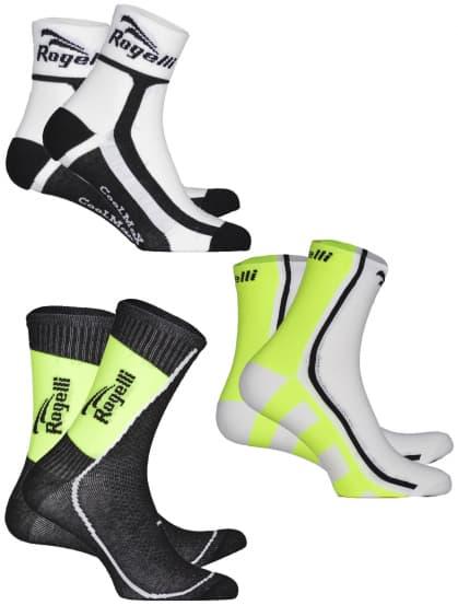 Funkčné ponožky Rogelli REFLEXNÝ MIX - 3 páry, rôzne veľkosti