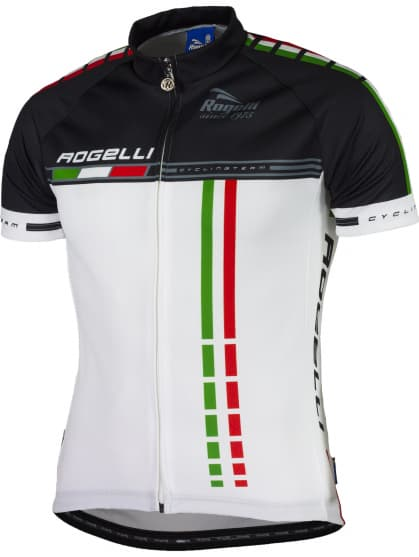 Cyklodres Rogelli TEAM 2.0 s krátkym rukávom, biely