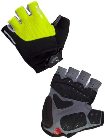 Cyklistické rukavice Rogelli ROCKFORD, reflexné žlté