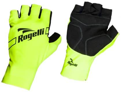 Cyklistické rukavice Rogelli LOGAN, reflexné žlté