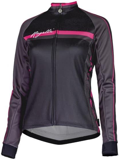 Dámsky cyklodres Rogelli MANICA ROSA s dlhým rukávom, čierno-ružový