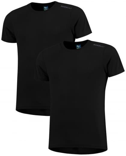 Funkčné tričká Rogelli PROMOTION - 2 ks rôzne veľkosti, čierne