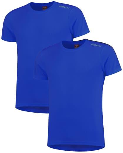 Funkčné tričká Rogelli PROMOTION - 2 ks rôzne veľkosti, modré