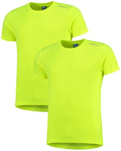 Funkčné tričká Rogelli PROMOTION - 2 ks rôzne veľkosti, reflexná žltá