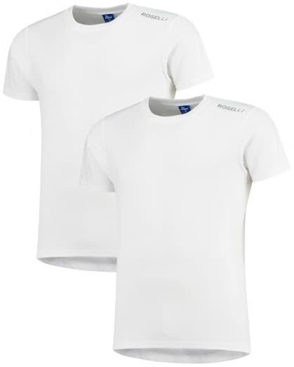Funkčné tričká Rogelli PROMOTION - 2 ks rôzne veľkosti, biele