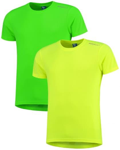 Detské funkčné tričká Rogelli PROMOTION MIX FLUORITE KIDS - 2 ks rôzne veľkosti