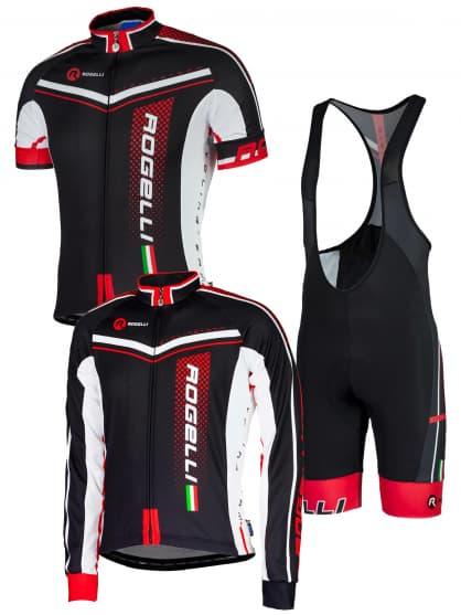 Letné cyklistické oblečenie Rogelli GARA MOSTRO, čierne