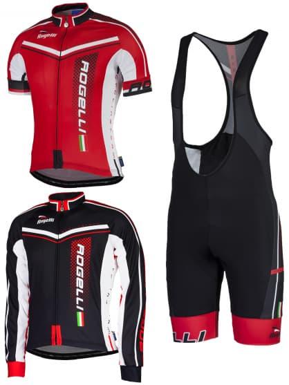 Letné cyklistické oblečenie Rogelli GARA MOSTRO, červené