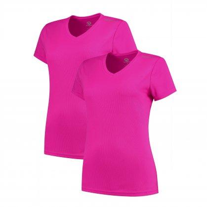 Dámske funkčné tričká Rogelli PROMOTION LADY - 2 ks rôzne veľkosti, reflexná ružová