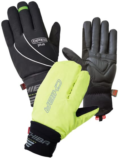 Zimné rukavice s integrovanou pláštenkou Chiba EXPRESS +, čierne