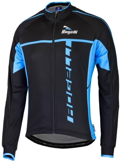 Cyklistický dres Rogelli UMBRIA 2.0 s dlhým rukávom, čierno-modrý