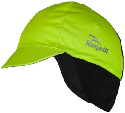 Softshellová čiapka pod prilbu Rogelli PROTTETIVO, reflexná žltá