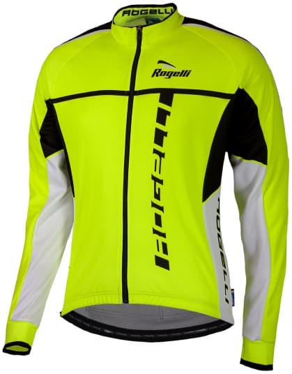 Cyklistický dres Rogelli UMBRIA 2.0 s dlhým rukávom, reflexný žltý-čierny