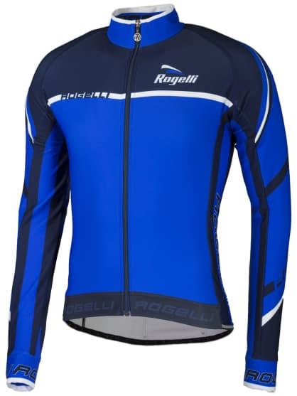 Cyklistický dres Rogelli ANDRANO 2.0 s dlhým rukávom, modro-biely