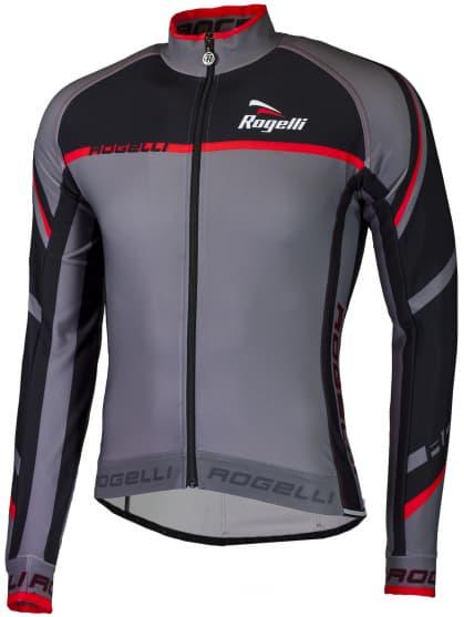 Cyklistický dres Rogelli ANDRANO 2.0 s dlhým rukávom, šedo-červený