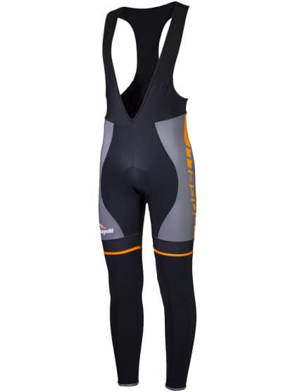 Cyklistické nohavice Rogelli UMBRIA 2.0 s gélovou cyklovýstelkou, šedo-oranžové