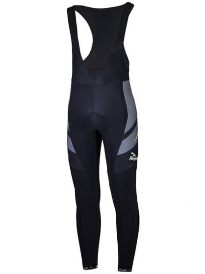 Cyklistické nohavice Rogelli ANDRANO 2.0 s gélovou cyklovýstelkou, čierno-reflexné žlté