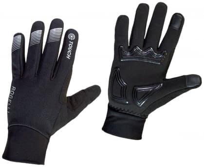 Stredne hrejivé zimné membránové rukavice s polstrovaním dlane Rogelli TOCCA, čierne
