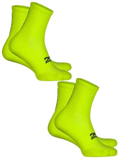 Funkčné ponožky Rogelli COOLMAX EVERYDAY - 2 páry, reflexné žlté