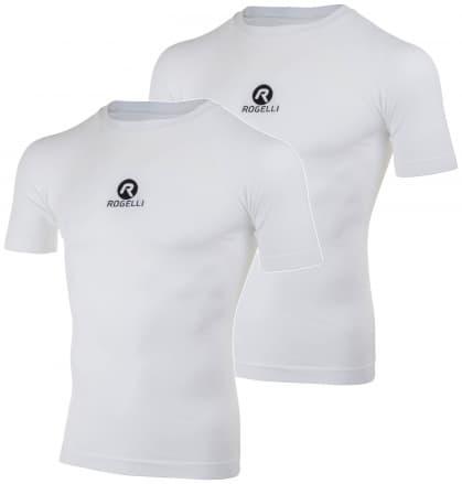 Funkčné termo tričká Rogelli CORE s krátkym rukávom - 2 kusy v balení, biele