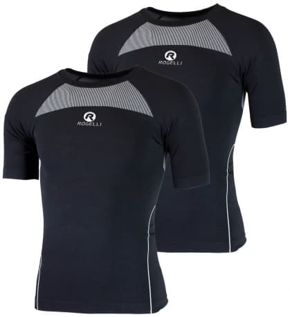 Funkčné termo tričká Rogelli CORE s krátkym rukávom - 2 kusy v balení, čierne
