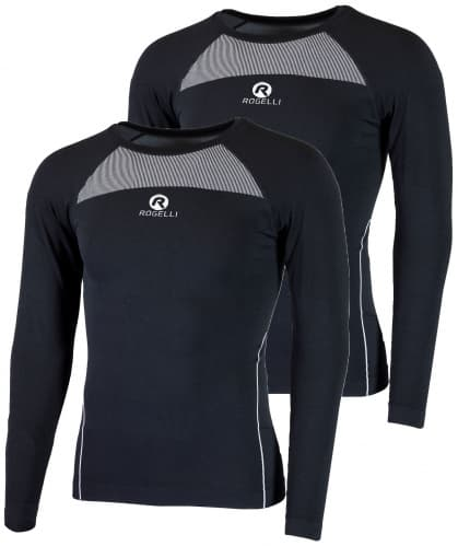 Funkčné termo tričká Rogelli CORE s dlhým rukávom - 2 kusy v balení, čierne