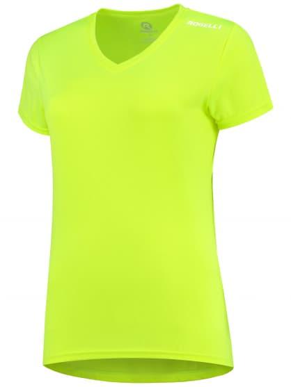 Dámske funkčné tričko Rogelli PROMOTION Lady, reflexné žlté