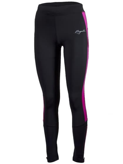 Dámske bežecké nohavice Rogelli VISION 2.0 s jemným zateplením, čierno-reflexné ružové