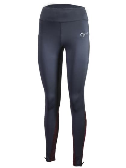 Dámske bežecké nohavice Rogelli ELEGANCE s jemným zateplením, šedo-vínové