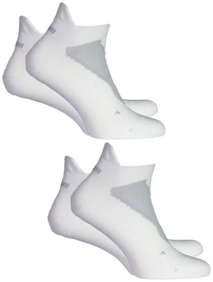 Jemne hrejivé ponožky s ochranou päty Rogelli COOLMAX RUN - 2 páry v balení, biele