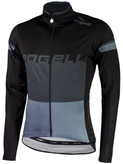 Vodoodolný cyklodres s ochranou chrbta Rogelli HYDRO s dlhým rukávom, šedý