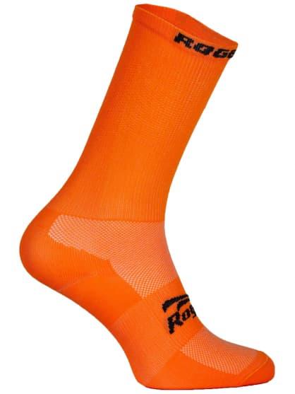 Antibakteriálne jednofarebné ponožky s miernou kompresiou Rogelli Q-SKIN, oranžové