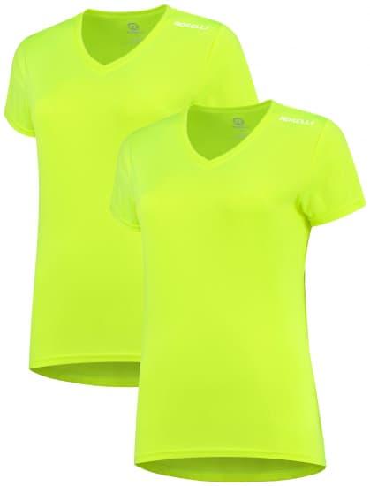 Dámske funkčné tričká Rogelli PROMOTION LADY - 2 ks rôzne veľkosti, reflexné žlté