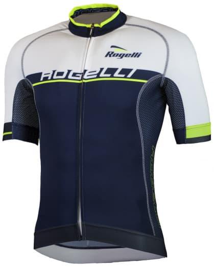 Extra priedušný cyklistický dres Rogelli COMBATTIVO s krátkym rukávom, modro-biely