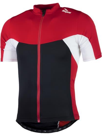 Detský cyklodres so sieťovinou Rogelli RECCO 2.0 s krátkym rukávom, čierno-červený