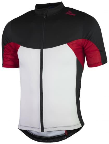 Cyklodres so sieťovinou Rogelli RECCO 2.0 s krátkym rukávom, bielo-čierno-červený