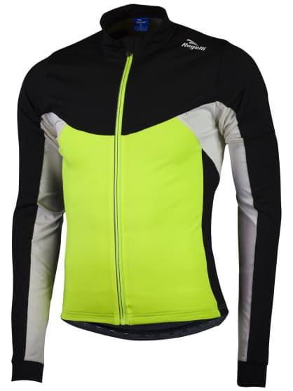 Hrejivý cyklistický dres Rogelli RECCO 2.0 s dlhým rukávom, reflexný žltý